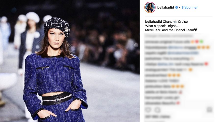 Bella Hadid Instagram 2018 : Collection croisière CHANEL 2018-2019