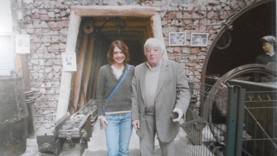 L'artiste Agnès Fornells aux côtés de Michel Herranz, coprésident de l'Aspibd.