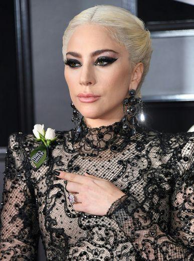 Lady Gaga lors de la 60ème cérémonie des Grammy Awards.