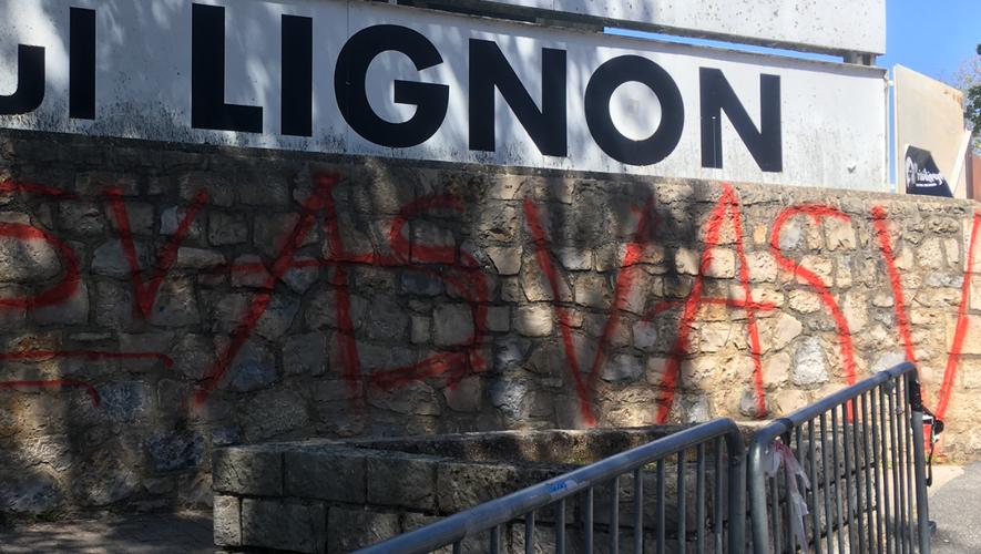Une partie des oeuvres qui ont irrité la municipalité ruthénoise ce matin.