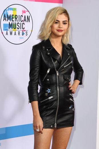 Selena Gomez aux American Music Awards, le 19 novembre 2017, à Los Angeles.