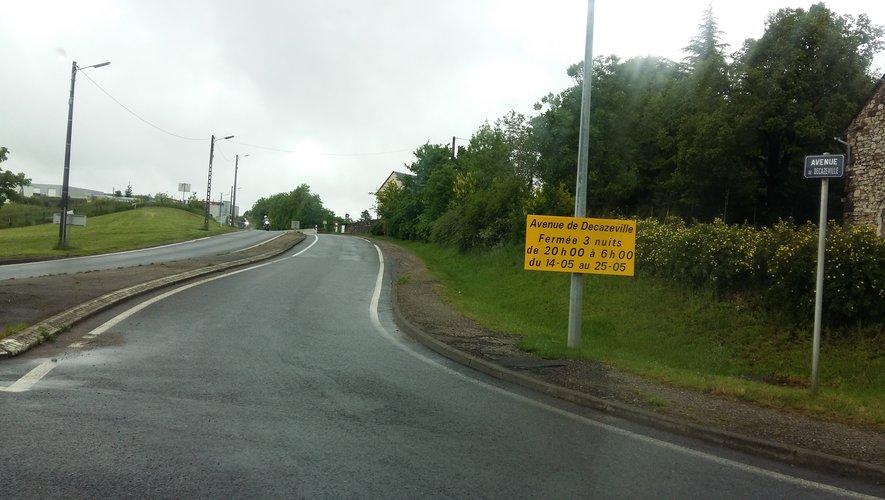 Rodez : la route de Decazeville fermée six nuits