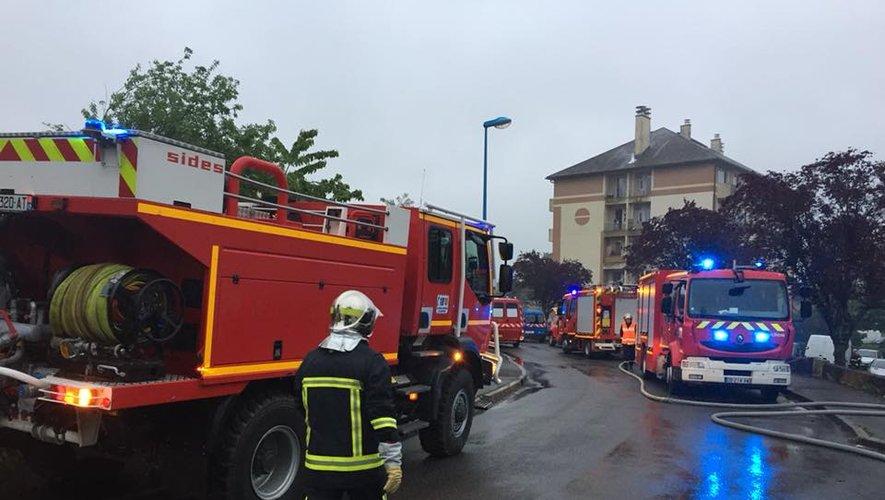 Pas moins de 55 sapeurs-pompiers ont été mobilisés ce lundi soir.