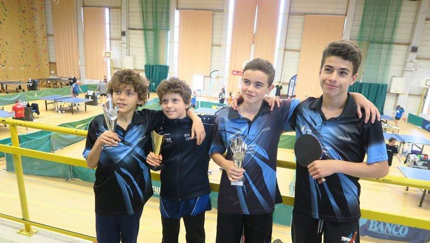 Sandro, Nino, Corentin et Matthis ont fait honneur au club formateur de Lioujas.