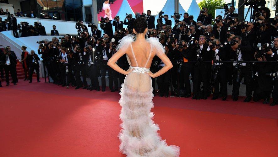 """Kendall Jenner avant la projection du film """"Les Filles du soleil"""""""