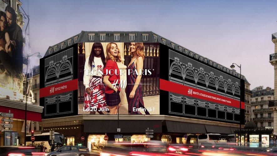 Le flagship parisien du géant suédois H&M rouvrira ses portes rue Lafayette le 20 juin prochain.
