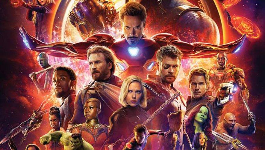 """AFFICHE: """"Avengers: Infinity War""""."""