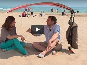 Deux Toulousains inventent le parasol qui ne s'envole pas !