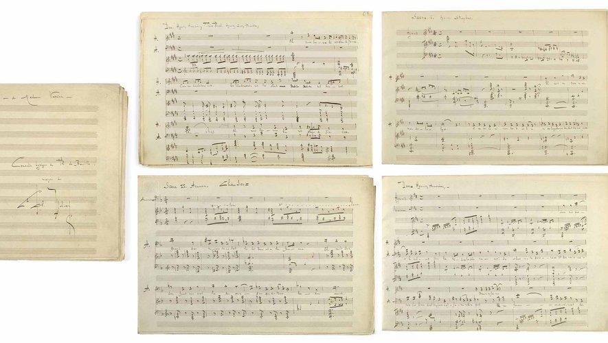 Le manuscrit autographe du jeune Claude Debussy est estimé entre 120.000 et 180.000€
