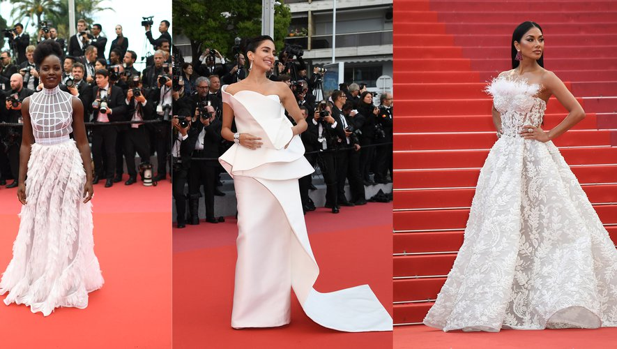 Blanc immaculé - Lupita Nyong'o, Jessica Kahawaty, et Nicole Scherzinger.