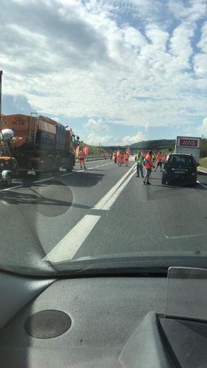 L'A75 paralysée à hauteur de Sévérac-d'Aveyron