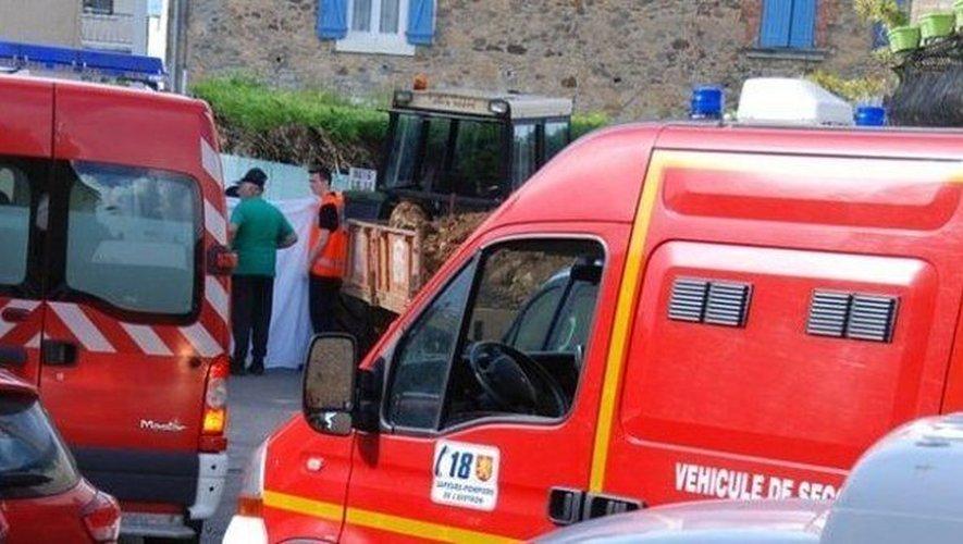 Les secours sur les lieux du drame, samedi après-midi à Montbazens.