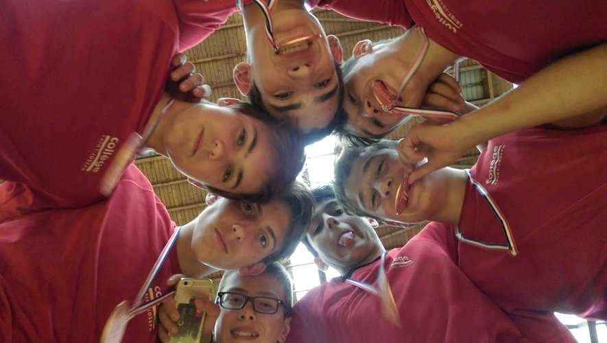 Mathis, Hugo, Benjamin, Titouan, Maxime, Aurélien et Timeo.