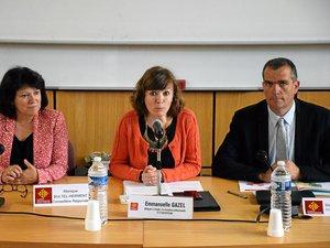 Emmanuelle Gazel (au centre), Monique Bultel-Herment et Stéphane Bérard, élus régionaux.