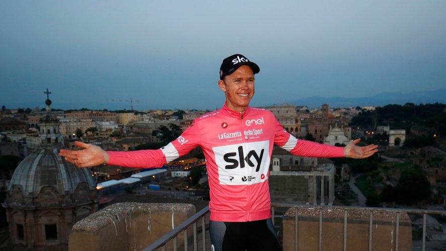 Christopher Froome à l'arrivée du Giro.
