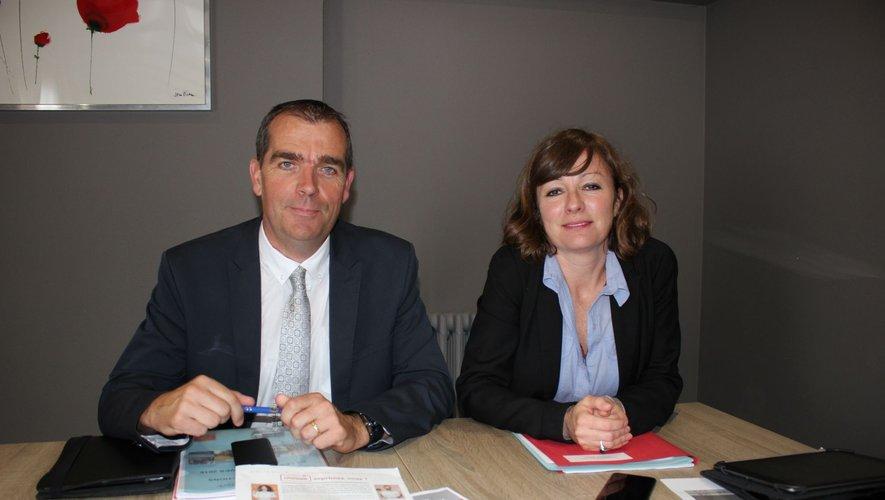 Stéphane Bérard  et Emmanuelle Gazel, main dans la main pour la SNAM.
