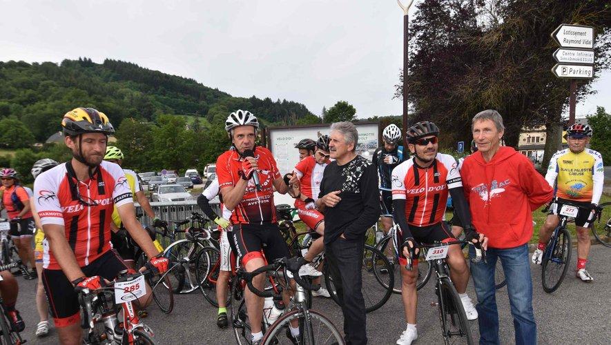 Le maire sur la ligne de départ de la 22e édition de la Marmotte d'Olt.