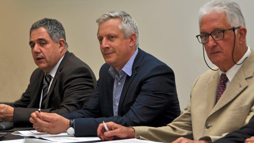 De gauche à droite :Pierre Vincens, Frédéric Lavernhe, Robert Moiroux.