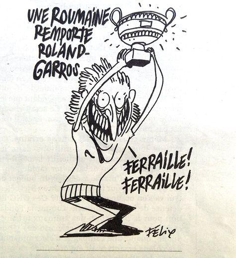 Une caricature de Simona Halep dans Charlie Hebdo fait polémique
