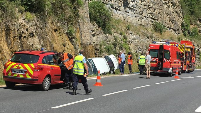 Sud-Aveyron : la circulation perturbée après un accident de la route