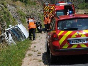 Accident du Sud-Aveyron : la victime a été évacuée vers l'hôpital