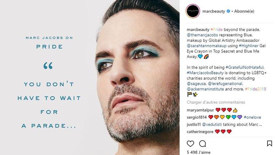 Marc Jacobs célèbre les fiertés LGBT à travers une campagne Marc Jacobs Beauty.