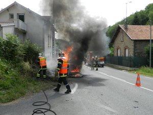 AubinQuatre blessés légers dansune collision à la Croix du Broual