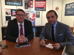 Sébastien Chenu, porte-parole de RN, est venu en Aveyron pour parler des futures échéances électorales.
