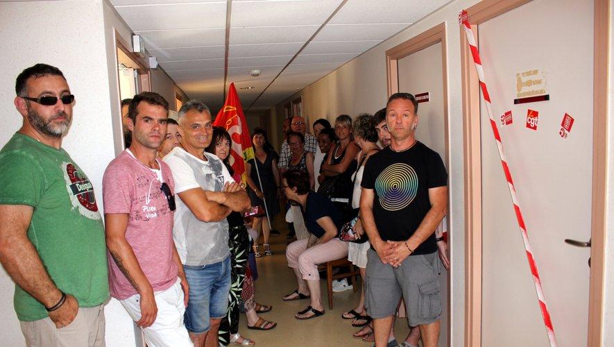 La porte du bureaudu directeur adjoint a été symboliquement condamnée (PHoto BHSP; DDM)