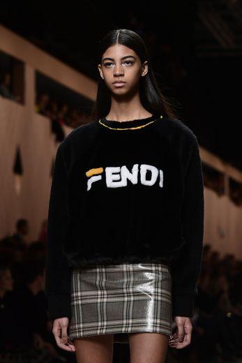 Après avoir collaboré avec Fendi le temps d'une collection pour l'automne-hiver 2018-2019, Fila présentera sa propre collection à Milan en septembre prochain. Milan, le 22 février 2018.