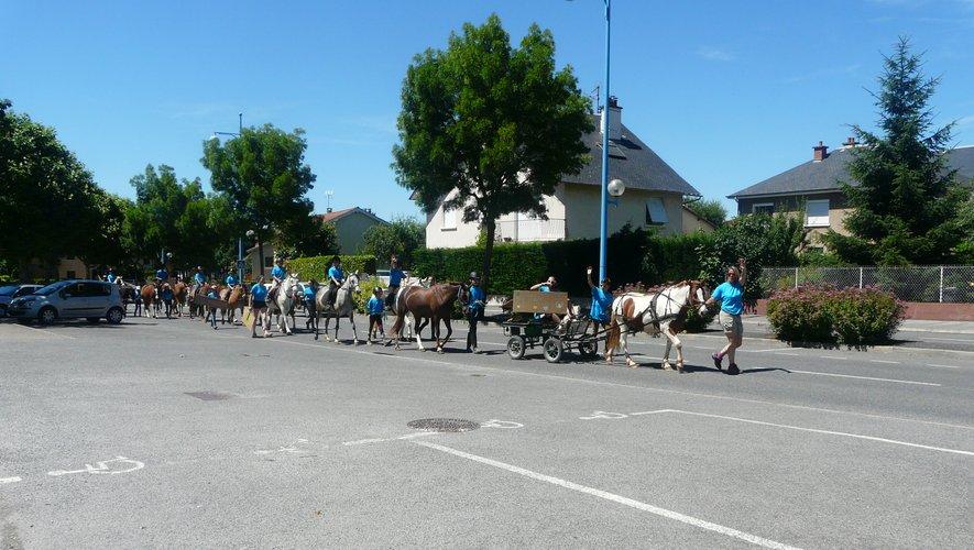 Les chevaux ont défilé boulevard des Capucines
