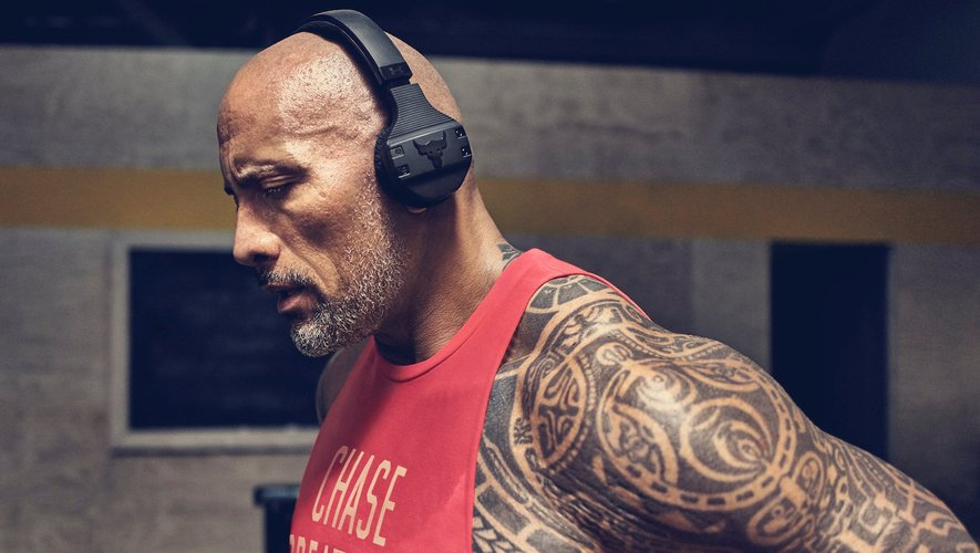 "Le casque ""Project Rock edition"" de Dwayne Johnson est vendu 249,95 dollars."