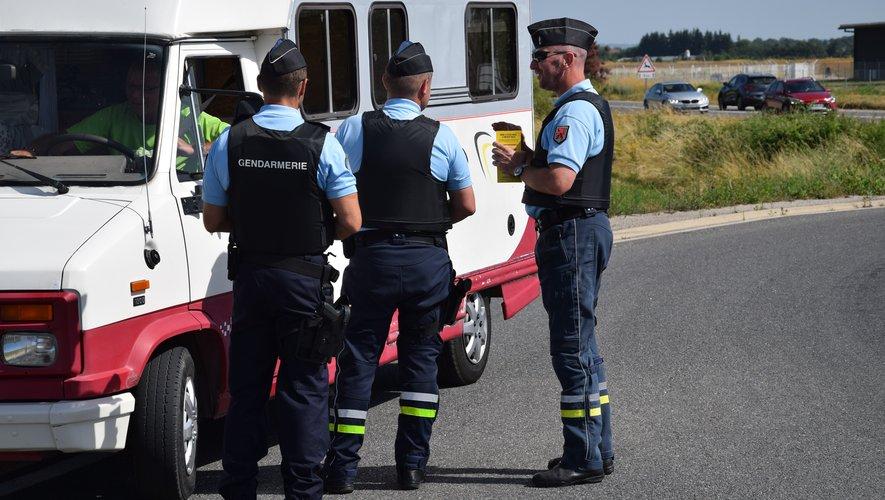 Les gendarmes ont participé à une opération de sensibilisation, hier sur la RD840.