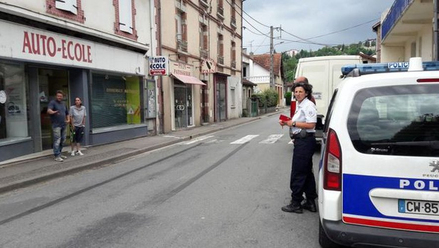 L'accident s'est produit rue Maruéjouls à Decazeville.