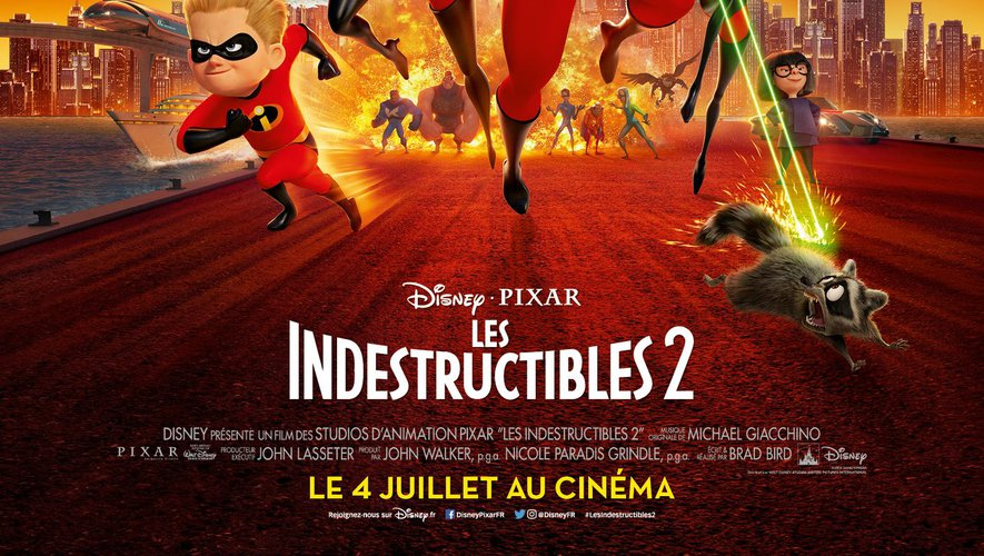 """""""Les Indestructibles 2"""" de Brad Bird, sorti aux Etats-Unis le 15 juin dernier, cumule déjà plus de 655 millions de dollars au box-office dans le monde."""