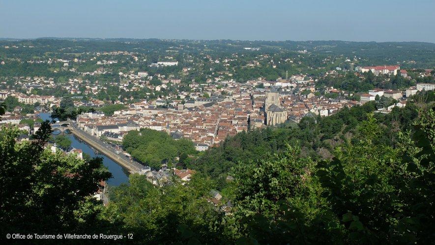 Vue sur Villefranche-de-Rouergue.