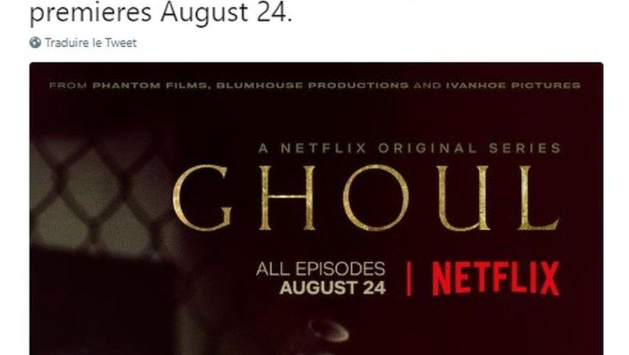 """La série """"Ghoul"""" sera disponible en anglais et en hindi."""