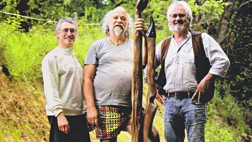 Jean-Marc Gauthier, Pascal Bassin et Jean-Claude Aurillac.