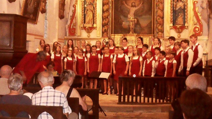 Le public a appréciéla prestation du chœur d'enfants.
