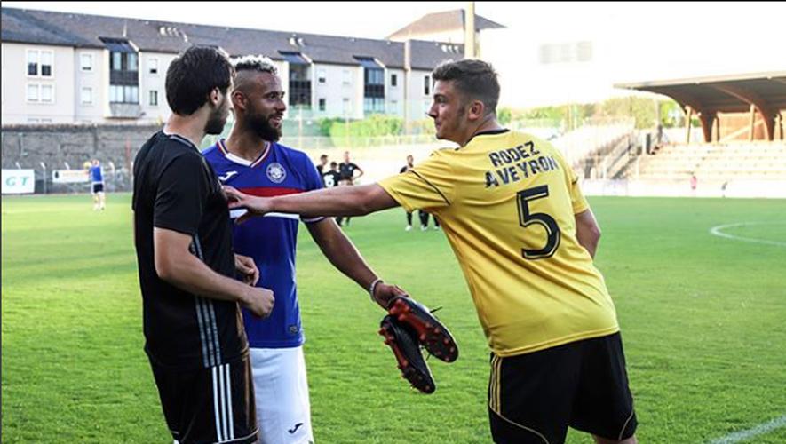 Hugo Robert (à droite sur la photo) a participé vendredi dernier à la rencontre opposant le Raf au TFC.