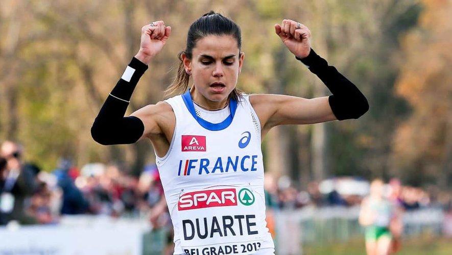 Sophie Duarte est championne de France de cross.