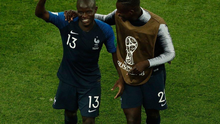 N'Golo Kante et Benjamin Mendy.