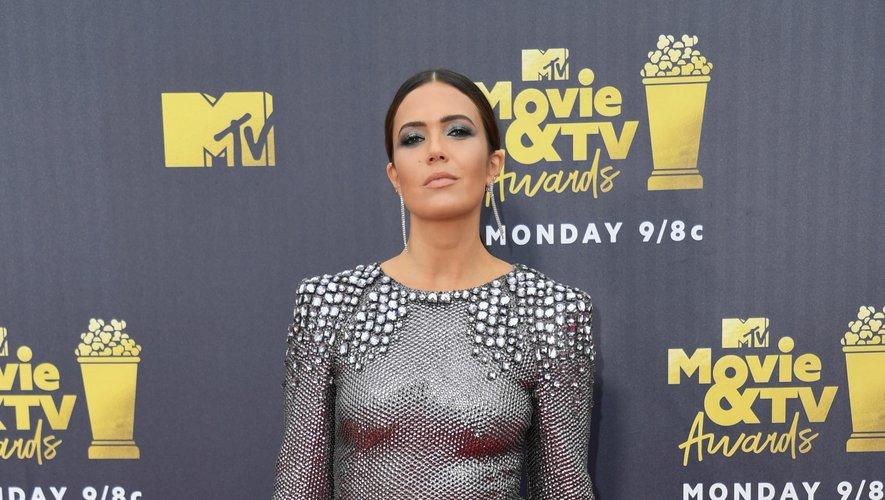 L'actrice et chanteuse américaine Mandy Moore aux MTV Movie & TV awards 2018, à Santa Monica, le 16 juin 2018.