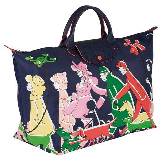 """Le sac """"Le Pliage"""" de Longchamp se pare des dessins de Clo'e Floirat pour l'automne 2018."""