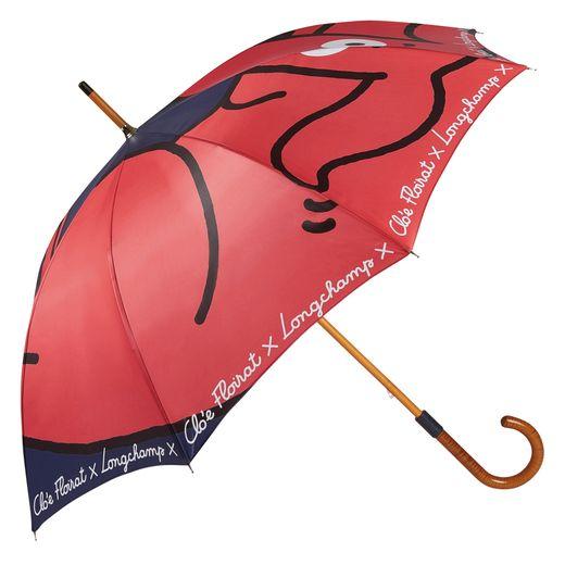 Un teckel nain rouge s'invite sur certaines pièces de la collection Longchamp x Clo'e Floirat.