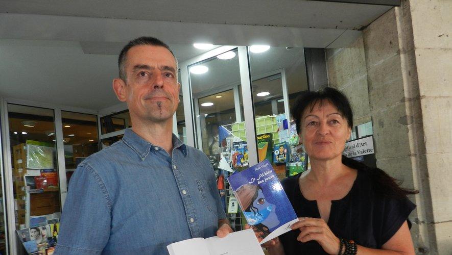 Alain Viguié et Maryline Costes étaient, jeudi matin, à la librairie La Folle Avoine où l'on peut se procurer l'ouvrage.