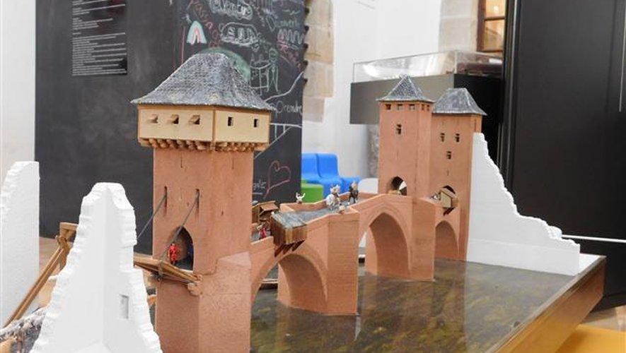 La maquette du Vieux Pont d'Espalion.