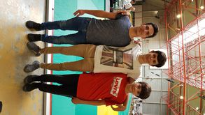 Damien Ruiz, Alban Delmas et Lubin Solis, un bel esprit d'entraide, de respectet d'amitié.