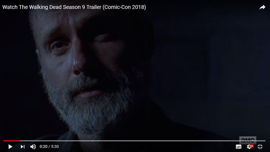 Andrew Lincoln incarne le personnage de Rick Grimes depuis 2010.