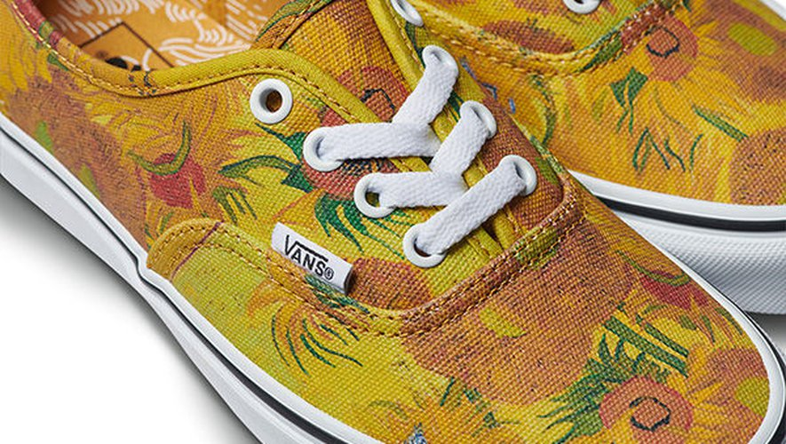 """Tournesols"" sur une paire d'Authentic"